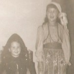 I'm positive she made this gypsy costume. I remember trying it on for fitting. And isn't Little Red Riding Hood cute.