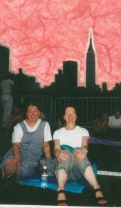 2002--sitting on the FDR, waiting for the July 4 fireworks to begiin