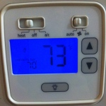 I like that it's less expensive to heat the house with gas than it is to cool the house with electricity. (Of course, part of that is because it doesn't stay that cold for extended periods of time and it does stay that hot for l-e-n-g-t-h-y periods of time.) See-thermostat set at 70, but Wednesday afternoon, it was 73 in the house at 7:00 p.m.