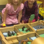 Animals were in the block area, and some girls decided to create a zoo.