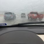 On I30, on my way to I35 (we were stopped for a moment, so I could safely shoot a photo)