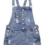 These cute overalls come already ripped. Already ripped? I pretty much can do that by myself.