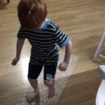 And, as many kids do, he's fond of jumping on bubble wrap.